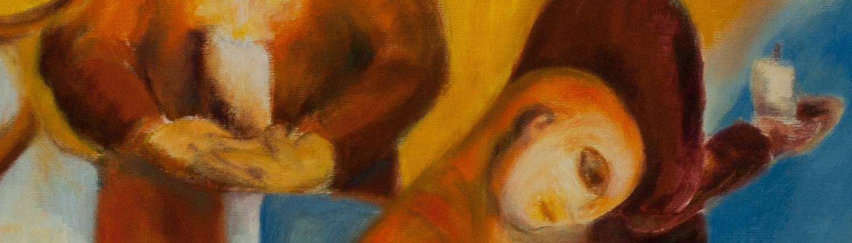 Kerstin Blomquist /detalj ur målning