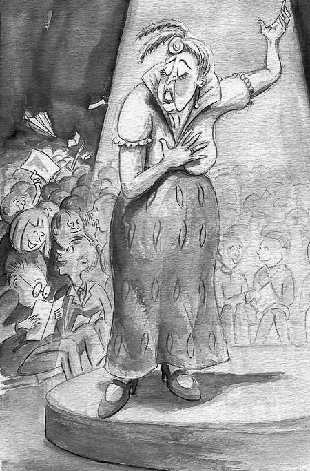 Kerstin Blomquist illustration ur På Tal om Uttal